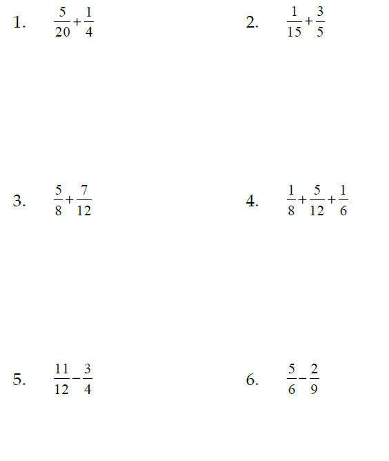 Worksheet #12241584: Adding and Subtracting Fractions and Mixed ...